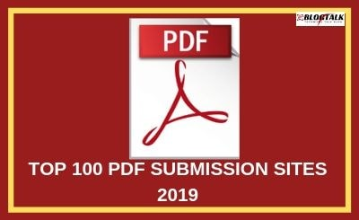 TOP 100 PDF SUBMISSION SITES 2019