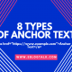 8 Types of Anchor text