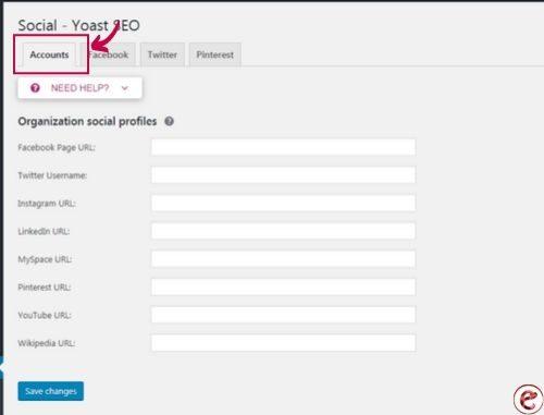 add social accounts in yoast seo