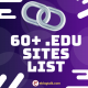 .Edu Sites for Backlinks | 60+ High Quality Backlinks Free